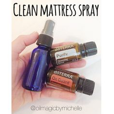 Clean Your Mattress Spray - 15 drops of each Purify and On Guard in a 2oz spray bottle, fill the rest with water