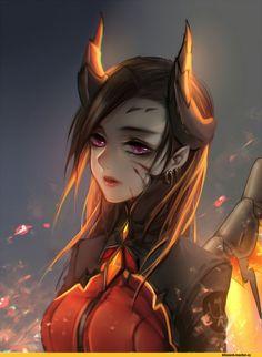 Mercy overwatch fan art   devil skin, imp, demon   fanart #overwatch #mercy