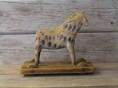 vintage dala horse toy