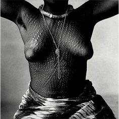 Irving Penn, Scarred Dahomey Girl, 1967.