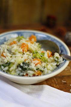 Hoje para jantar ...: Risotto de abóbora e brócolos