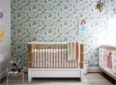 Beautiful little nursery. Nicole Cohen of Sketch42′s House Tour, BEFORE & AFTER!! | Rue