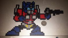 Optimus Prime - Transformers perler beads by BeadUpAllTheThings