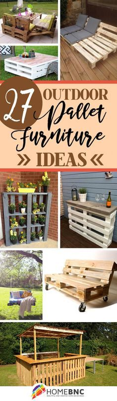 Outdoor Pallet Furniture Decorations