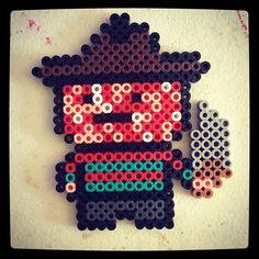 Freddy Krueger from Nightmare on Elm Street. :) #perler #perlerbeads #hama #hamabeads #fusebeads #kandi #plur #pixel #sprite #beadsprite #halloween