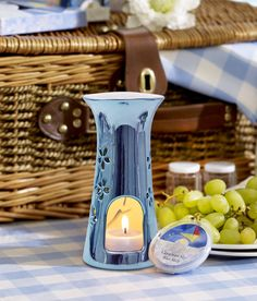 Pop your Cerulean Sky wax melt into the beautiful blue warmer then sit back and enjoy the amazing aroma! :-)