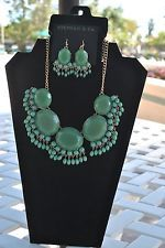 Stephan & Co Green Necklace and Earrings set, $18