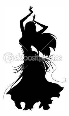 Silhueta de dançarina do ventre — Ilustração de Stock #9028871