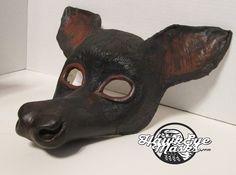 Fruit Bat costume mask, hand painted, masquerade mask, realistic bat mask, spirit mask, half face mask, mask with ears, cute gothic bat by HawkEyeMasks on Etsy