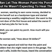 She needed a job to earn some money. But what she did will shock you. must read you will laugh. (Click to Enlarge). Need A Job, Need To Know, Woman Painting, The Neighbourhood, Funny Stuff, Weird, Funny Quotes, Jokes, Lol