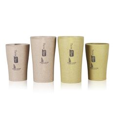 KCASA KC-WHE05 360/280mL Wheat Straw Cup Drinking Mug Portable Outdoor Water Bottle Eco Friendly