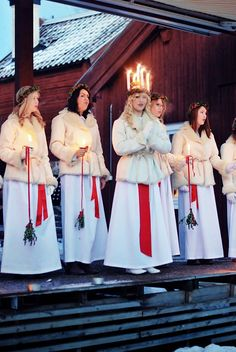 "Lucia, Sweden. This truely is christmas. On Lucia day we always put up our christmas tree and decorate it. Then we eat homemade gingerbread cookies and ""lussekatter"""
