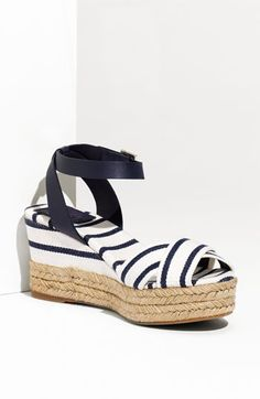 "Loooove these! ""Karissa"" espadrille by Tory  Burch -want them for summer!"