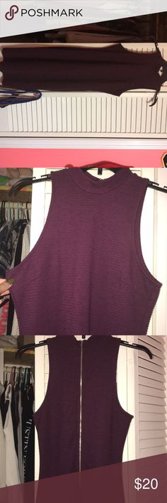 Purple dress Dark purple bodycon dress . Form fitting. Knee length Charlotte Russe Dresses Midi