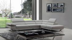 Grey Leather Sofa, Living Room Leather, Light Grey, Sectional, Wooden Sofa, Beige Sofa, L Shaped Couch, Sectional Sofa Beige, Sofa