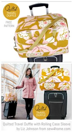 DIY Quilted Travel Duffle Bag Free Sewing Patterns Source by fabricartdiy bags Duffle Bag Patterns, Bag Patterns To Sew, Sewing Patterns Free, Free Sewing, Diy Duffle Bag, Duffle Bag Travel, Travel Bags, Patchwork Bags, Quilted Bag