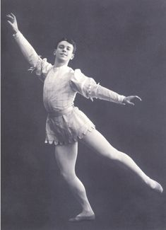 "Vaslav Nijinsky in ""Dance of roses and butterflies"" from the opera DON JUAN 1907 - '08"