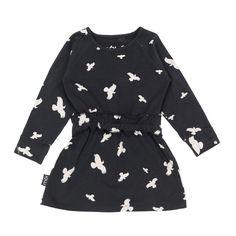 Moi Kidz Organic Play Dress Black Raven | www.littlesahou.com