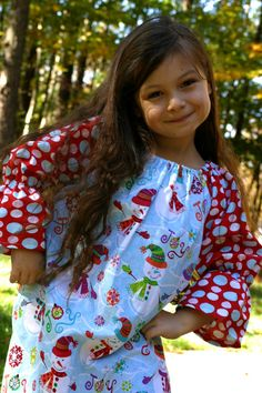 Girls Christmas Dress Snowman Christmas Dress by SewShellz on Etsy, $36.00