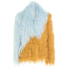 Saks Potts Shearling Jacket (£965) ❤ liked on Polyvore featuring outerwear, jackets, multicolor, shearling lined jacket, shearling jacket, blue jackets, multi colored jacket and fleece-lined jackets
