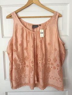 "Cotton/Rayon blend. Peach color. Size 12. Shoulder to shoulder: 12"". Underarm to underarm: 24"".   eBay!"