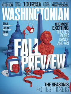 Washingtonian, October 2011  Design Director: Michael Goesele  Set Design: Vault49  #SPDcoveroftheday