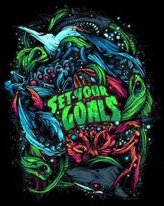 Illustrations Discover Dan Mumford for Set Your Goals - See this image on Photobucket. Graffiti Cartoons, Graffiti Art, Arte Horror, Horror Art, Dan Mumford, Arte Dope, Psy Art, Grafik Design, Psychedelic Art