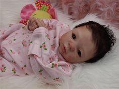Reborn Baby OOAK - Aleina Peterson - Morgan - Newborn Infant Girl Doll