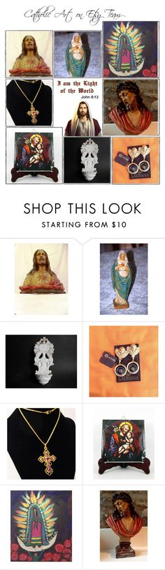 """Religious Art on Etsy by TerryTiles2014 - Volume 275"" by terrytiles2014 on Polyvore featuring interior, interiors, interior design, Casa, home decor, interior decorating, Laurana, etsy, christian e art"