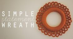 Crochet:+Simple+Statement+Wreath+on+goodknits