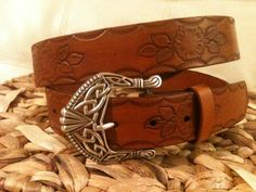 Country Girl Leather Belt  Country/Western  by GratifyDesign, $40.00