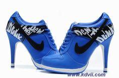Nike Dunk SB Low Heels Blue Black Women Online