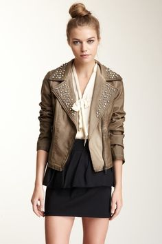 Adele Stud Lapel Crop Jacket on HauteLook