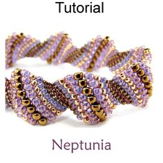 Neptunia Even Count Peyote Beaded Bracelet Beading Pattern Tutorial