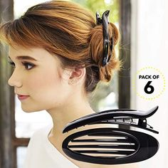 Shop Barrette Accessory - Black - Find the newest styles of Hair Clips with Affordable Prices. Black Hair Grips, Partial Updo, Light Brunette, Yoga Hair, Halloween Hair Bows, Diy Braids, French Hair, Wedding Hair Pins, Clip In Extensions