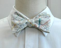 Men's Bow Tie of Paris Metro system