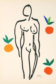 By Henri Matisse (1869-1954), 1954, Nu aux oranges, Atelier Mourlot, Paris.