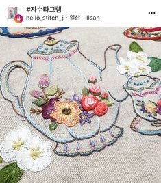 Hand Embroidery Patterns Flowers, Hand Embroidery Stitches, Silk Ribbon Embroidery, Cross Stitch Embroidery, Machine Embroidery, Embroidery Designs, Easy Knitting Projects, Sewing Projects, Hard Crafts