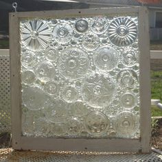 Stained Glass Mosaic Repurposed Window Don't Flip by ARTfulSalvage, $450.00
