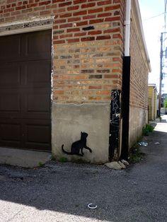 #StreetsAndAlleys art mixed with #CatsMeow art... Cats & Alleys