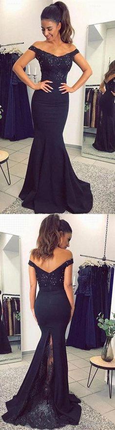 Off Shoulder Blue Lace Mermaid Prom Dress, Lace Mermaid Formal Dress, Lace Evening Dress, Navy Blue Bridesmaid Dress #prom #promdress #prom2018 #prom2k18 #formalprom #formaldress #offtheshoulder #laceprom #lacedress #offshoulderdress #navybluedress #navyblue #bridesmaiddress #bridesmaid