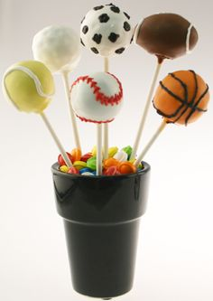 Sports cake pops with how to directions
