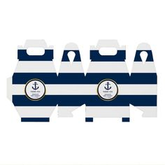 Sailor Baby Showers, Gold Baby Showers, Blue Gold, Navy Blue, Feeling Special, Favor Boxes, Baby Shower Favors, Nautical, Designer Bags