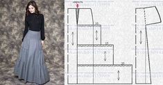 Posts on the topic of Шитье простые выкройки added by Taika T Shirt Sewing Pattern, Skirt Patterns Sewing, Vintage Sewing Patterns, Clothing Patterns, Sewing Pants, Sewing Clothes, Fashion Sewing, Diy Fashion, Pola Rok