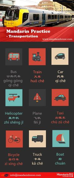 Transportation in Chinese. For more info please contact: bodi.li@mandarinh... The best Mandarin School in China