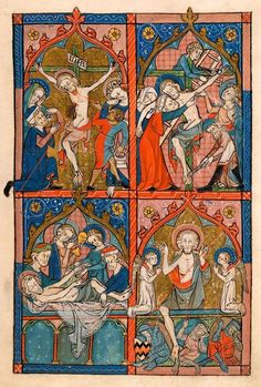 Crucifixion; Deposition; Entombment; Resurrection | Psalter | England, East Anglia or London | ca. 1300-1310 | The Morgan Library & Museum