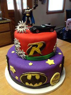 Batman & Robin cake by yankeecakebaker, via Flickr #Batman #cakes #birthday