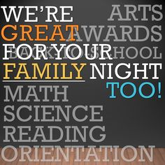 Our programs are great for special event nights too! Family Night, After School, Special Events, Entertainment, Science, This Or That Questions, Math, Reading, Math Resources