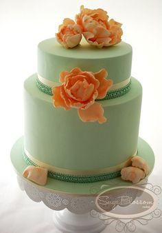 http://www.sugablossomcakes.com.au/wp-content/gallery/wedding_1/vintage-mint-peach-peony-wedding-cake.jpg