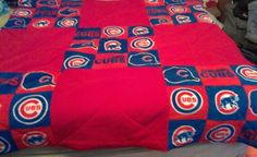 Chicago cubs throw quilt